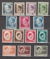 ROUMANIE  1945   Entre 785 Et 808  Neuf XX   14 Valeurs = Roi Michel - 1918-1948 Ferdinand, Carol II. & Mihai I.