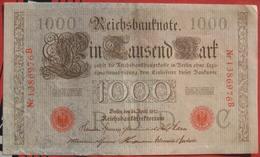 1000 Mark 1910 (WPM 45b) 21.4.1910 Reichsbanknote - [ 2] 1871-1918 : German Empire