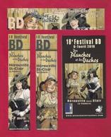 3 Marque Page Festival BD Hérouville St Clair 2019 + Flyer-programme.   Bookmark. - Marque-Pages