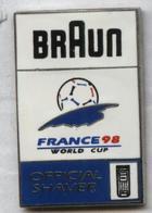 Pin's Football Coupe Du Monde France 98 Word Cup FIFA Soccer - Braun (1) - Football