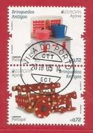 Portugal / Acores   2015 Mi.Nr. 601 + 602 Aus Block 58 , EUROPA CEPT - Historisches Spielzeug - Gestempelt / Used / (o) - Europa-CEPT