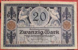 20 Mark 1918 (WPM 63) 4.12.1918 Reichsbanknote - [ 3] 1918-1933: Weimarrepubliek