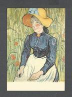 PEINTURES - PAINTING - VAN GOGH ( 1853 - 1890 ) JEUNE PAYSANNE - COLL. HANLOSER - Peintures & Tableaux