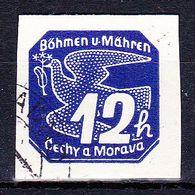 Boheme Et Moravie 1939 Mi 47 (Yv TPJ 6), Obliteré - Gebraucht