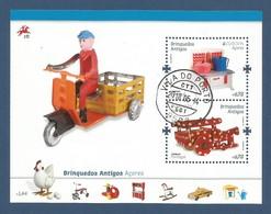 Portugal / Acores   2015 Mi.Nr. 601 + 602 / Block 58 , EUROPA CEPT - Historisches Spielzeug - Gestempelt / Used / (o) - Europa-CEPT