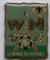 Pin's Football Coupe Du Monde France 98 Word Cup FIFA Soccer - Fédération Allemande De Football Deutscher Fußball-Bund - Fútbol
