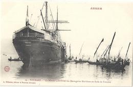 CPA Vietnam Tourane Le Manche Courrier Des Messageries Maritimes En Baie De Tourane - Viêt-Nam