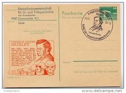 THOMAS HUXLEY Finsterwalde 1984 East German Postal Card P84-1-84 Special Print C58 - Nature