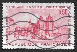 FRANCE   1972  -  Y&T  1718 -  Saint Brieuc  Congrès National De La Fédération Des Sociétés Philatéliques  -  Oblitéré - France