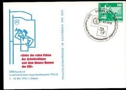 DDR PP16 D2/013 Privat-Postkarte Signaltrompeter Ubach Döbeln Sost. 1976 - 1. Weltkrieg