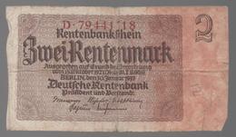 ALEMANIA - GERMANY -  2 Rentenmark 1937 - 100 Deutsche Mark