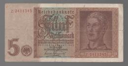 ALEMANIA - GERMANY -  5 Rentenmark 1942 - 100 Deutsche Mark