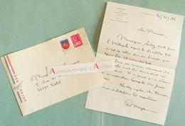 L.A.S 1976 - Père Mayer - La REUNION évêché De Saint-Denis - Monseigneur Aubry - Yvetot - Lettre Autographe - Autographes