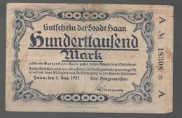 ALEMANIA - GERMANY -  100.000  Mark 1923 HAAN - 100 Deutsche Mark