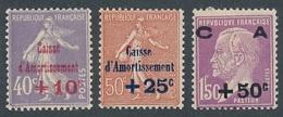 """CP-203: FRANCE: Lot Avec """"CAISSE D'AMORTISSEMENT"""" N°249**-250**-251* - France"""