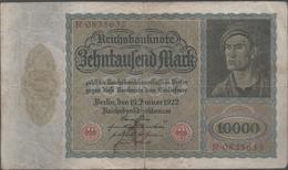 ALEMANIA - GERMANY -  10.000 Mark 1922 P-70 - 100 Deutsche Mark