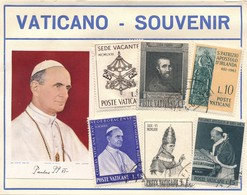 I93 - Planche 6 Timbres Vaticano - Souvenir - Paul VI - 33 - Oblitérés