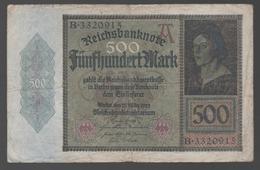 ALEMANIA - GERMANY -  500 Mark 1923  P-73 - [ 6] 1949-1990 : RDA - Rep. Dem. Alemana
