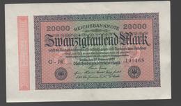 ALEMANIA - GERMANY -  20.000 Mark 1923  P-85 - 100 Deutsche Mark