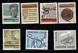 Féroé 1981/1982 Yv 59/63**, 64/65**   Mi  65/69**, 70/71 MNH - Féroé (Iles)