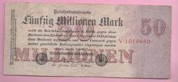 ALEMANIA - GERMANY -  50.000.000 Mark 1923  P-98 - 100 Deutsche Mark
