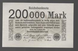 ALEMANIA - GERMANY -  200.000 Mark 1923  P-100 - 100 Deutsche Mark