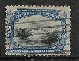 U.S.A.1901, 5 Cents,bridge, Used - United States