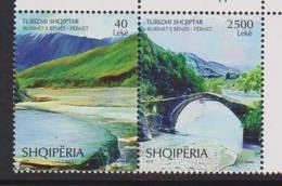 ALBANIA ,2018, MOUNTAINS, BRDIGES, 2v - Bridges