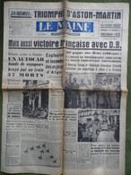 24 H Du Mans 1959.Victoire DB Panhard.Aston-Martin.Bourges.Aubigné-Racan.Capotage à Maison-Blanche. - 1950 à Nos Jours