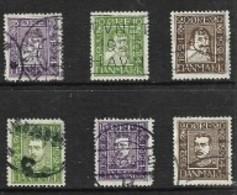 Denmark, 1924, Post Office Tercentenary, Set Of 6 Used - 1913-47 (Christian X)