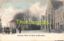 CPA DENDERMONDE TERMONDE  PLAINE DE L'EGLISE DE NOTRE DAME ( KLEURKAART ! ) - Dendermonde