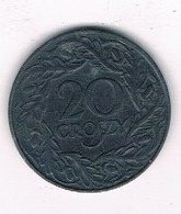 20 GROSZY 1938-1939 (gubernator) POLEN /2700/ - Poland