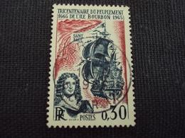 """60-69- Timbre Oblitéré N° 1461   """" Tricentenaire Peuplement Ile Bourbon    """"  0.20 - France"""
