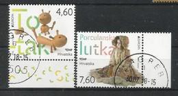 Kroatien / Hrsvatska  2015  Mi.Nr. 1181 / 1182 , EUROPA CEPT - Historisches Spielzeug - Gestempelt / Used / (o) - 2015