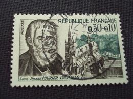 """60-69- Timbre Oblitéré N°  1470  """" Saint Pierre Fourrier    """"  0.30 - Usados"""