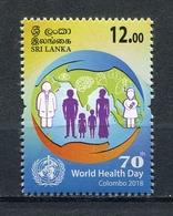 SRI LANKA 2018 World Health Day Colombo 2018 MNH - Sri Lanka (Ceylon) (1948-...)