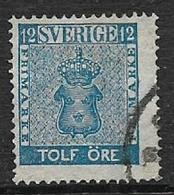 Sweden, 1858, 12 Ore, Blue, Used - Sweden