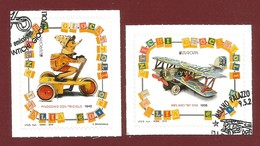 Italien   2015  Mi.Nr. 3785 / 3786 , EUROPA CEPT - Historisches Spielzeug - Selbstklebend - Gestempelt / Used / (o) - Europa-CEPT