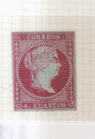 Año 1855  Edifil 40 4cu Isabel II - 1850-68 Kingdom: Isabella II