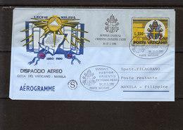 Vatican - Aérogramme - Dispaccio Aéréo - Cité Del Vaticano - Manila - FDC
