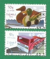Island  2015   Mi.Nr. 1459 / 1460 , EUROPA CEPT - Historisches Spielzeug  - Gestempelt / Used / (o) - Europa-CEPT