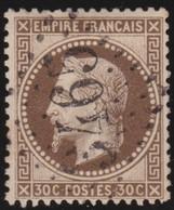 France   .   Yvert    .    30         .      O      .     Oblitéré - 1863-1870 Napoleon III With Laurels