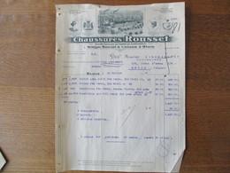 BLOIS  CHAUSSURES ROUSSET MAJESTY ROUSSET STANDARD AU CYGNE FACTURE DU 18 JUILLET 1924 - France
