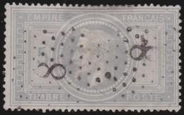 France   .   Yvert    .    33   .  2 Scans, Condition Parfaite          .      O      .     Oblitéré - 1863-1870 Napoleon III With Laurels