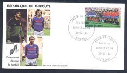 Djibouti 1984 Cover: UEFA EURO 1984 France Spain: Football Fussball Soccer Calcio France (Arconada Tigana Platini) - Fußball-Europameisterschaft (UEFA)