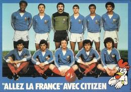 """"""" ALLEZ LA FRANCE """"  AVEC CITIZEN .. BIJOUTERIE DUBOIS .. 16 RUE DES HALLES  .. 37000 TOURS ... 1982 . PLATINI . GIRES . - Calcio"""