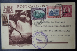 South West Africa:  Postcard Nr 31 Uprated Censored Airmail 20-8-1946 Mariental -> Germany - Südwestafrika (1923-1990)