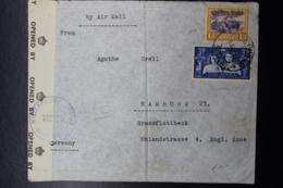 South West Africa:  Airmail Cover Censored  Swakopmund -> Hamburg Mixed Franking 1947 - Südwestafrika (1923-1990)
