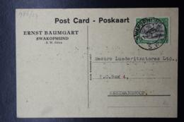 South West Africa: Postcard Swakopmund -> Keetmanshoop 11-6-1949 - Zuidwest-Afrika (1923-1990)