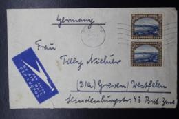 South West Africa: Airmail Cover Windhoek -> Germany  1946? Sg 79 Pair - Südwestafrika (1923-1990)